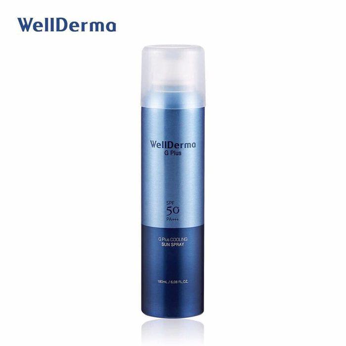 Xịt chống nắng Wellderma G Plus Cooling Sun Spray SPF 50Pa++++