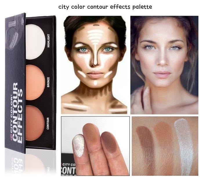Bảng phấn tạo khối 3 màu City Color Cosmetics Contour Effects Palette