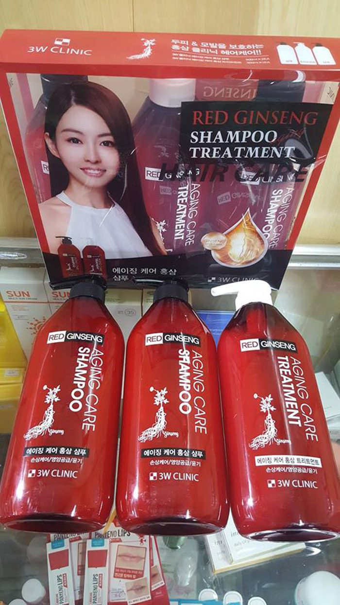 dầu gội 3W Clinic Red Ginseng Aging Care