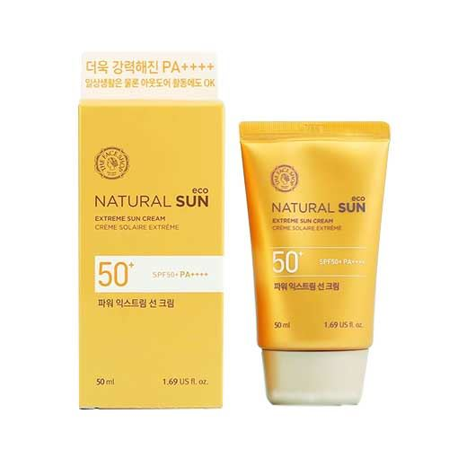Kem Chống Nắng The Face Shop Natural Sun Eco Extreme Sun Cream SPF 50+ PA++++