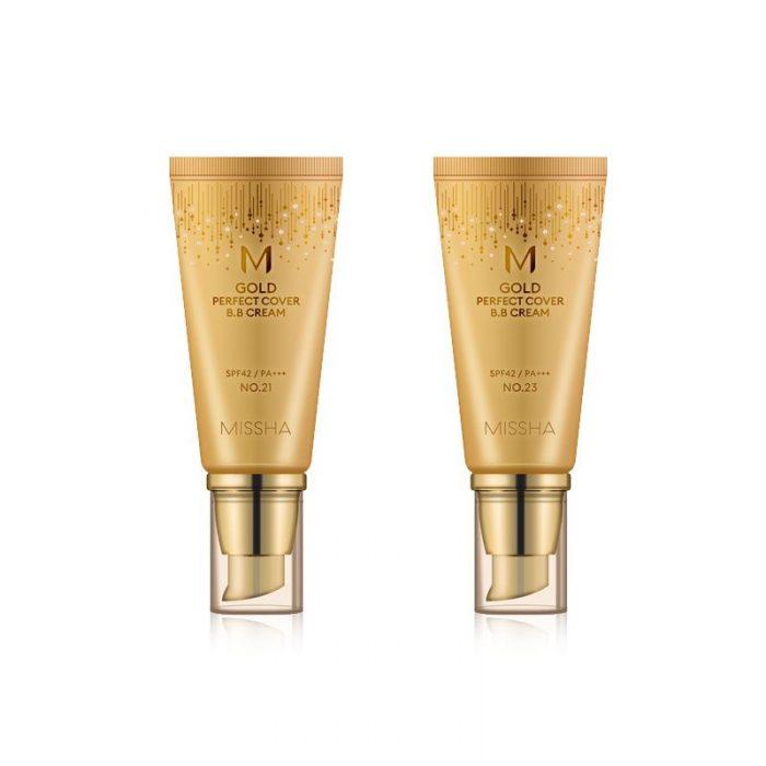 Kem nền Missha M Gold Perfect Cover BB Cream spf42/pa