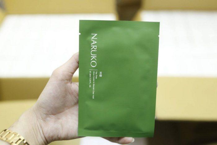 mặt nạ Naruko Tea Tree Shine Control & Blemish Clear Mask