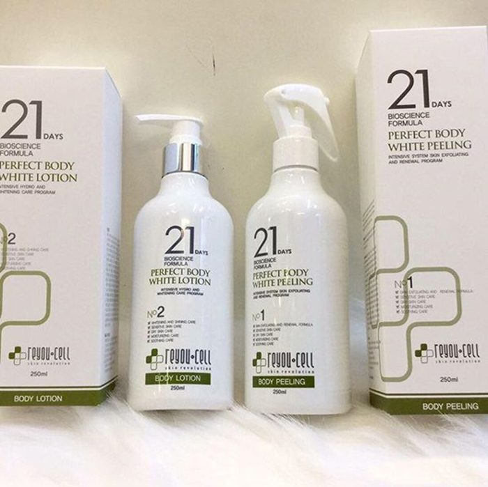 Tắm trắng 21 days Perfect Body White Reyou-cell