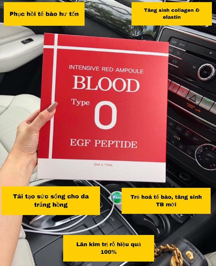 Tế Bào Gốc Blood Type O Intensive Red Ampoule EGF Peptide
