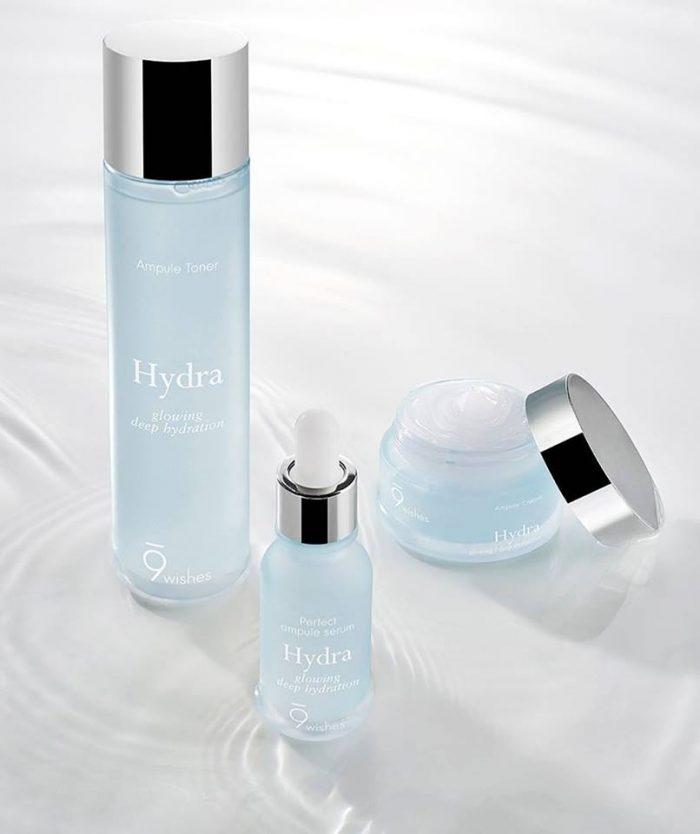 Nước hoa hồng 9Wishes Hydra Ampule Toner Glowing Deep Hydration