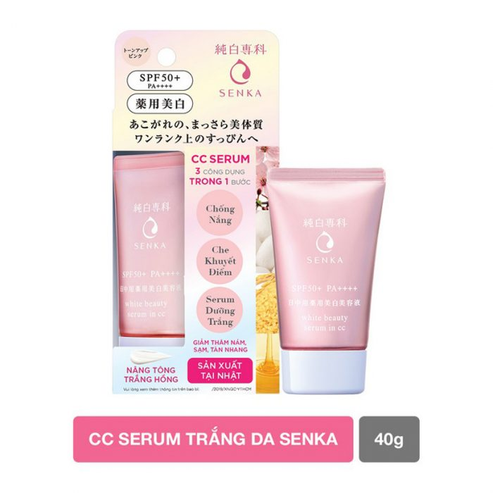 Serum Dưỡng Trắng Da Senka White Beauty Serum In CC SPF50+ PA++++