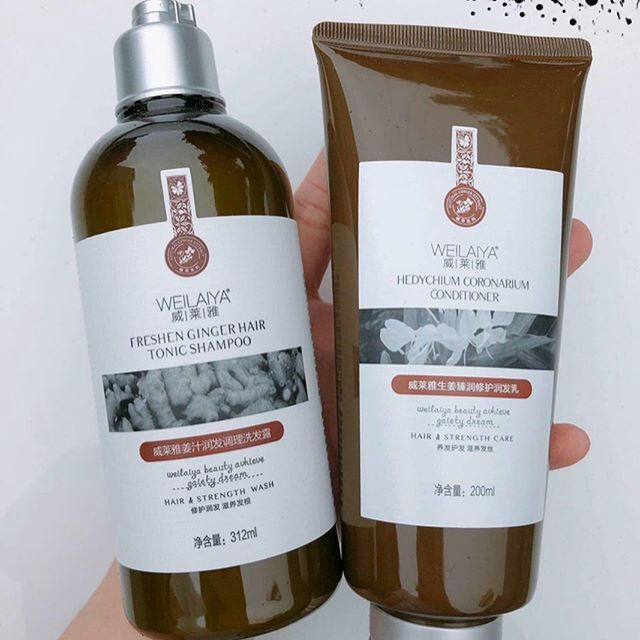 Dầu Gội Weilaiya Freshen Ginger Hair Tonic Shampoo