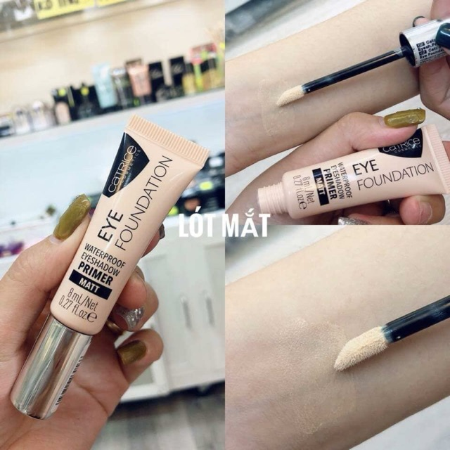 Kem Lót Mắt Catrice Eye Foundation Waterproof Eyeshadow Primer