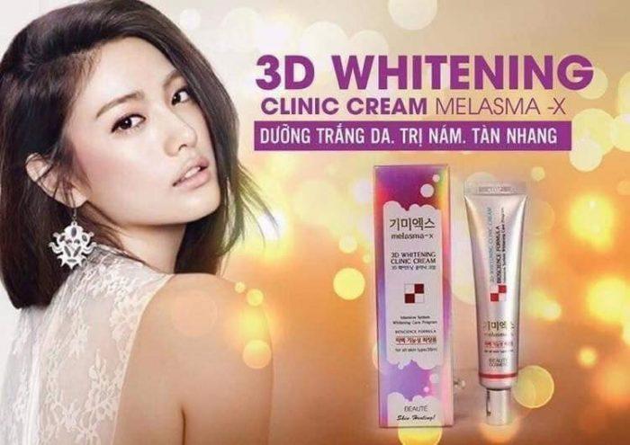 Kem Trị Thâm Nám Tàn Nhang Melasma-X 3D Whitening Clinic Cream