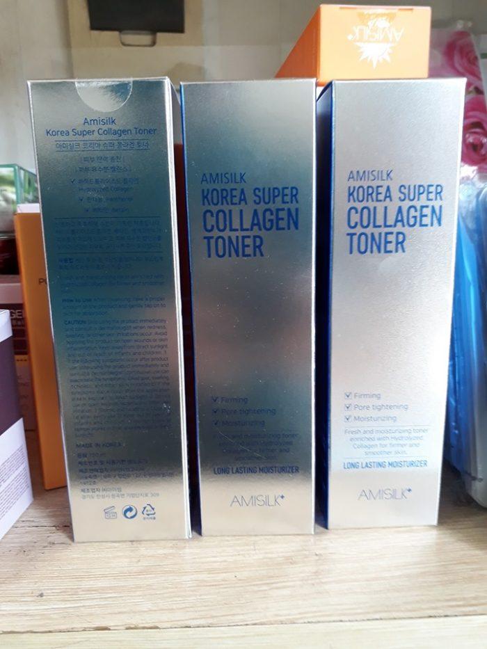Nước hoa hồng Amisilk Korea Super Collagen Toner