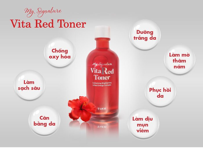Nước Hoa Hồng Tiam My Signature Vita Red Toner