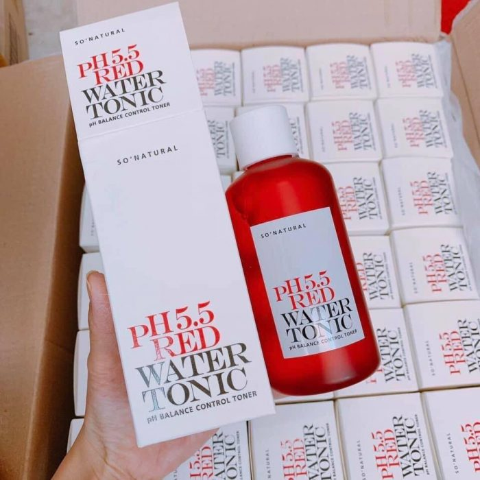 Nước hoa hồng So' Natural pH 5.5 Red Water Tonic