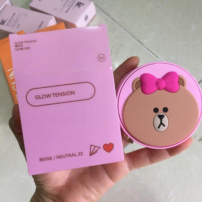 Phấn nước Missha Glow Tension Line Friends Edition