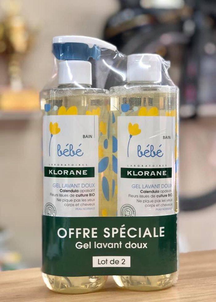 Sữa Tắm Gội Cho Bé Bébé Klorane Gel Lavant Doux
