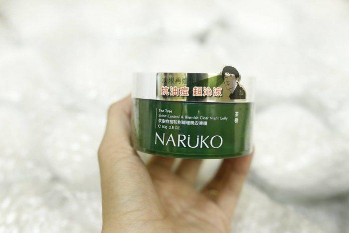 Mặt Nạ Ngủ Naruko Tea Tree Shine Control & Blemish Clear Night Gelly