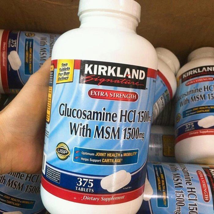 Viên uống bổ khớp Kirkland Signature Glucosamine with MSM