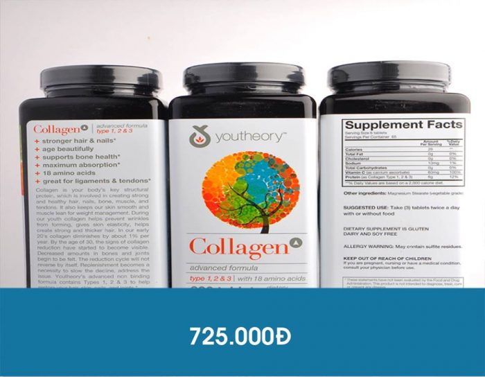 Viên Uống Collagen Youtheory™ Type 1 2 & 3