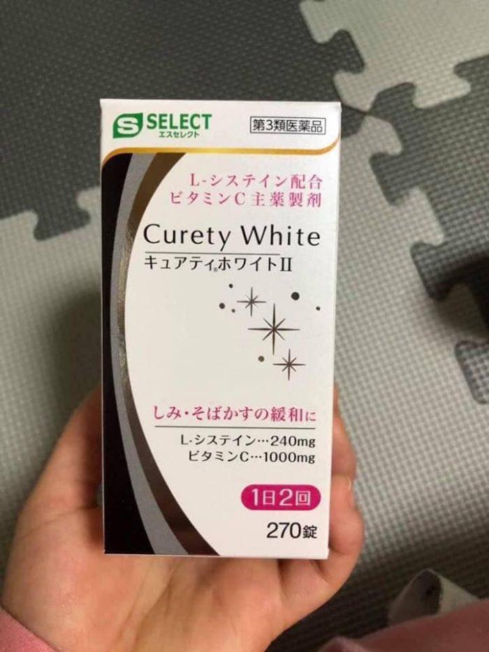 Viên uống trắng da trị nám Curety White