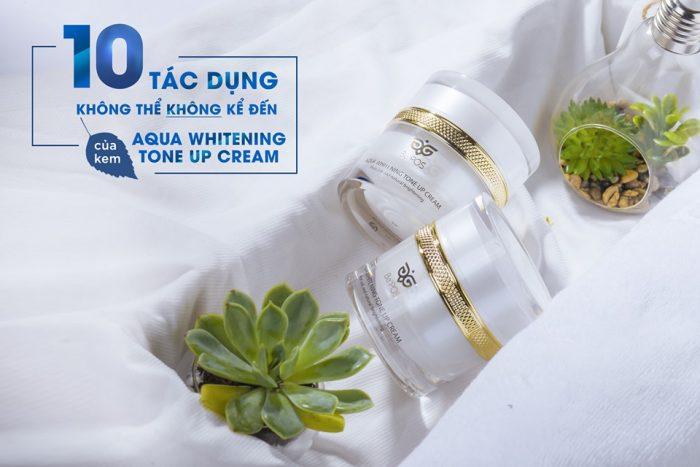 Kem Dưỡng Trắng Be'POS Aqua Whitening Tone Up Cream