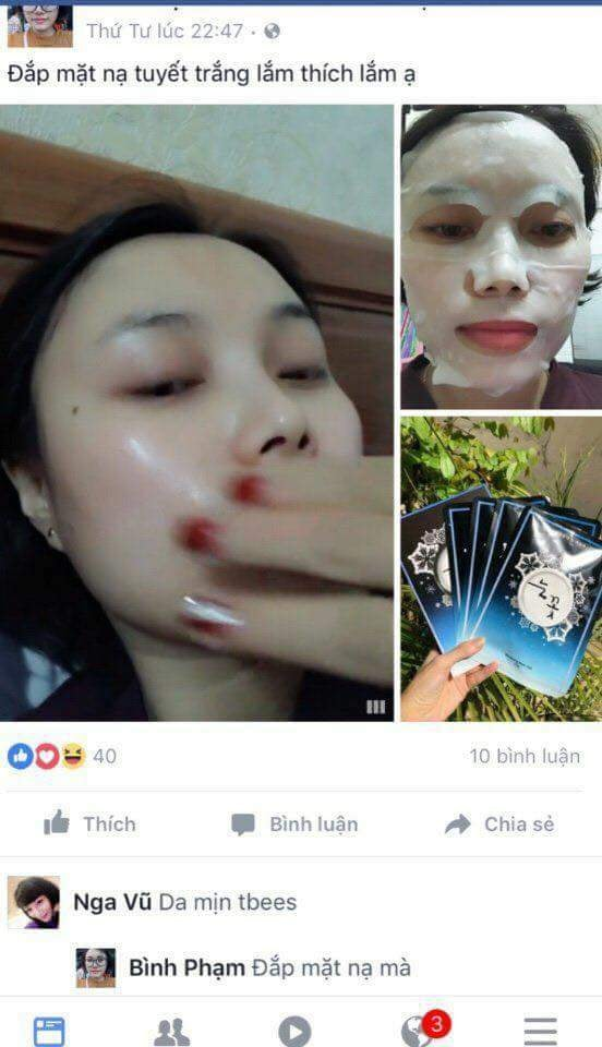 Mặt nạ hoa tuyết Whitening Mask Pack