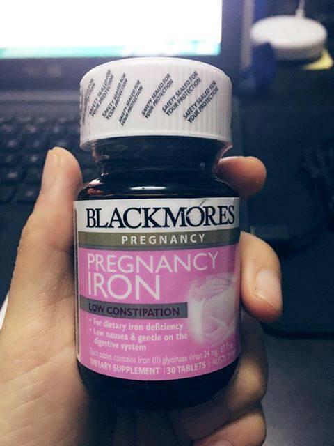 Viên Sắt Cho Bà Bầu Blackmores Pregnancy Iron