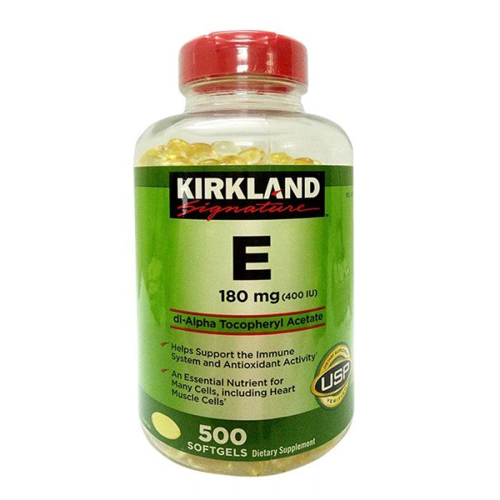 Viên uống Kirkland Signature Vitamin E 400 I.U