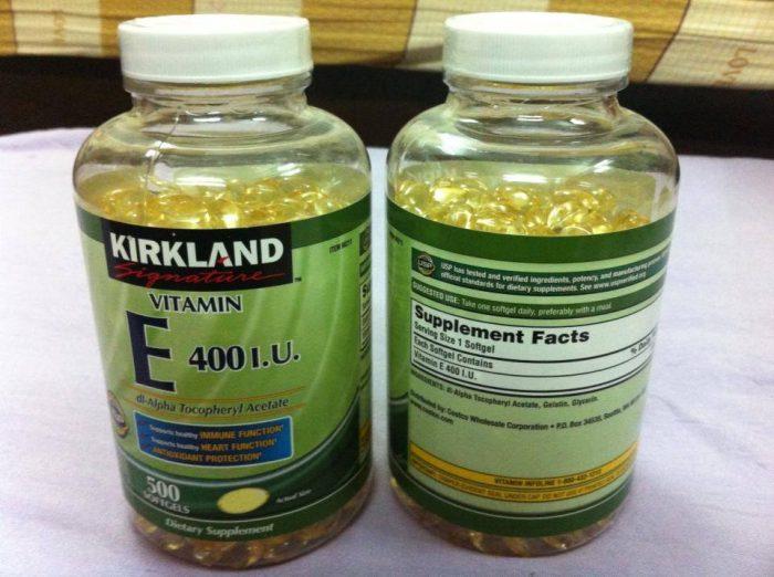 Viên uống Kirkland Signature Vitamin E 400 IU