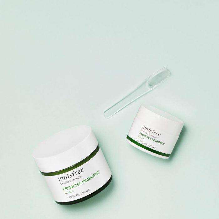 Kem Dưỡng Ẩm Innisfree Derma Formula Green Tea Probiotics Cream 50ml