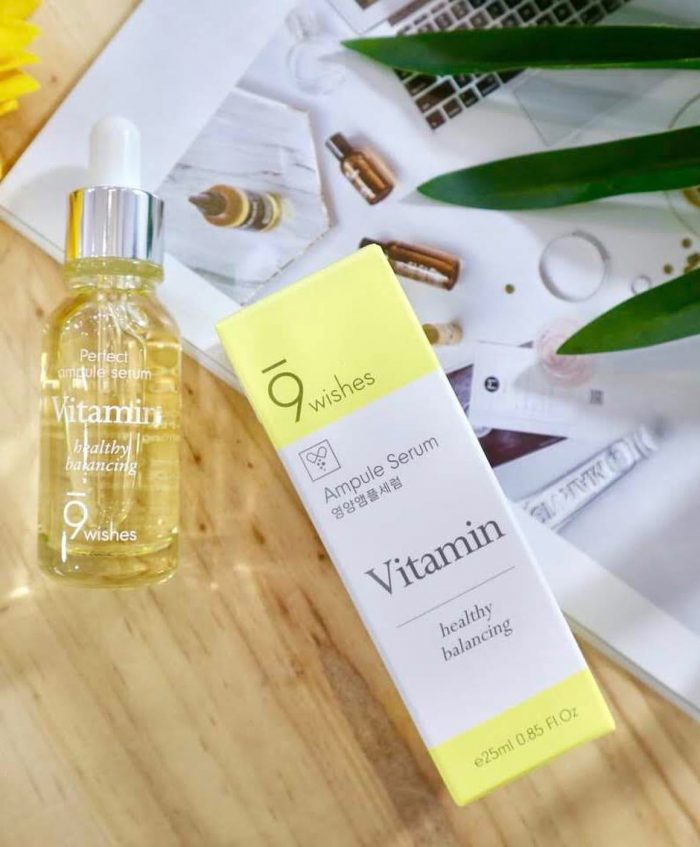 Tinh chất 9Wishes Ampule Serum vitamin white