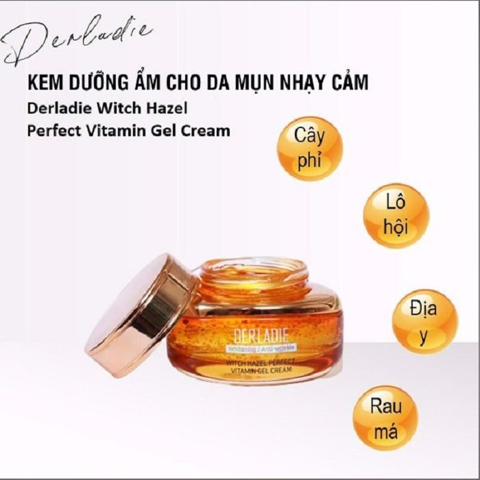 Kem dưỡng Derladie Witch Hazel Perfect Vitamin Gel Cream