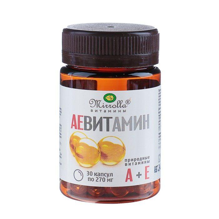 Viên uống Mirrolla Vitamin A + E