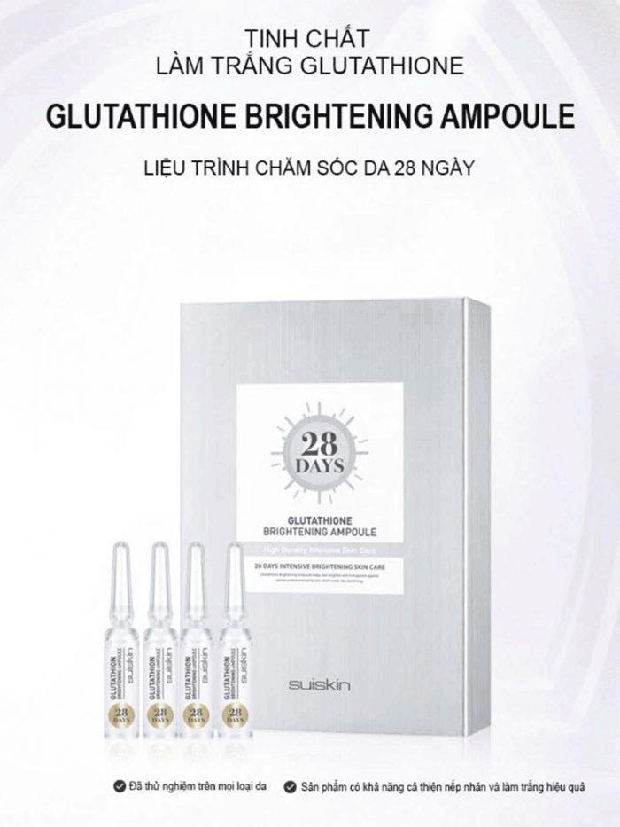 Tinh chất kích trắng da Suiskin Glutathione Brightening Ampoule