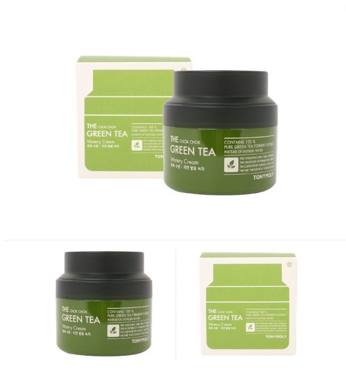 Kem Dưỡng Ẩm Tonymoly The Chok Chok Green Tea Watery Cream