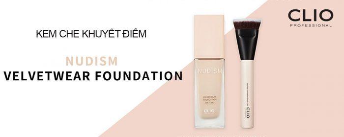 Kem Nền Clio Nudism Velvetwear Foundation