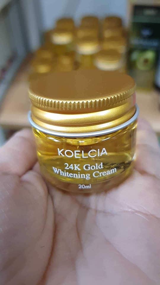 Kem Dưỡng Trắng Koelcia 24K Gold Whitening Cream