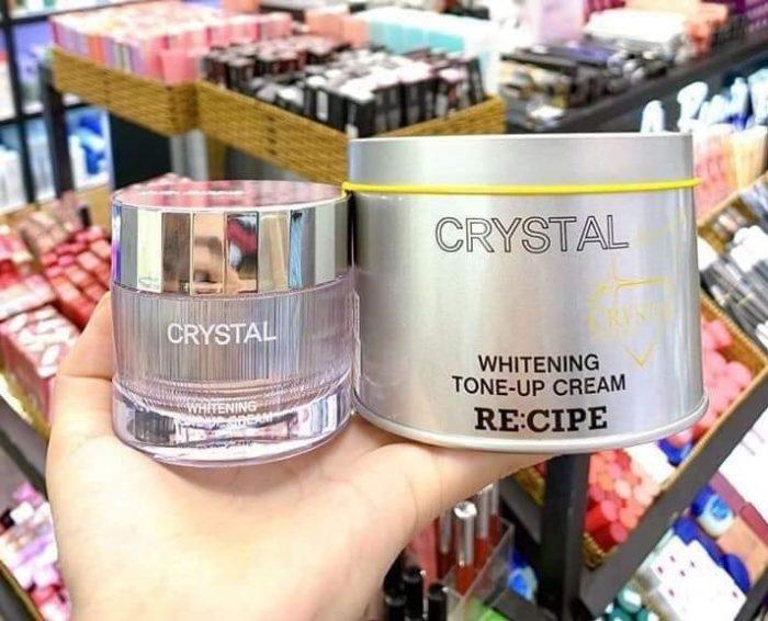 Kem dưỡng trắng da RECIPE Crystal Whitening Tone-up Cream