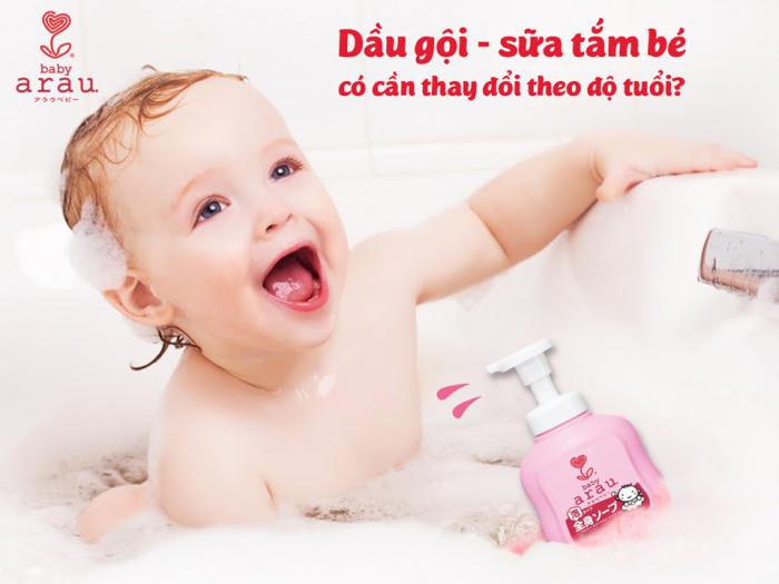 Sữa tắm gội Arau Baby