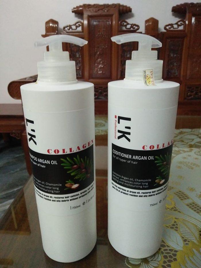 dầu gội L'K Collagen Argan oil