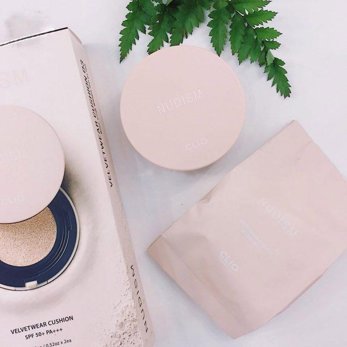 Phấn Nước CLIO Nudism Velvetwear Cushion SPF50+ PA++