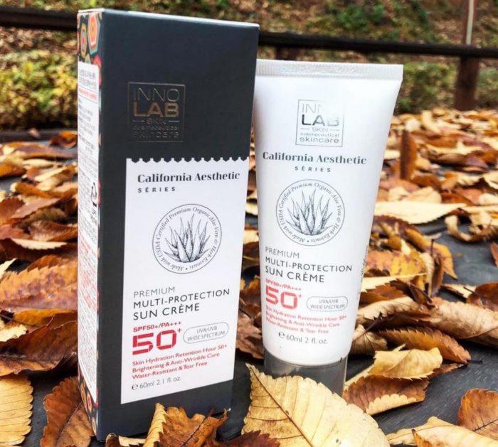 Kem chống nắng Organic Inno Lab Premium Multi-Protection Sun Creme SPF50+/PA+++