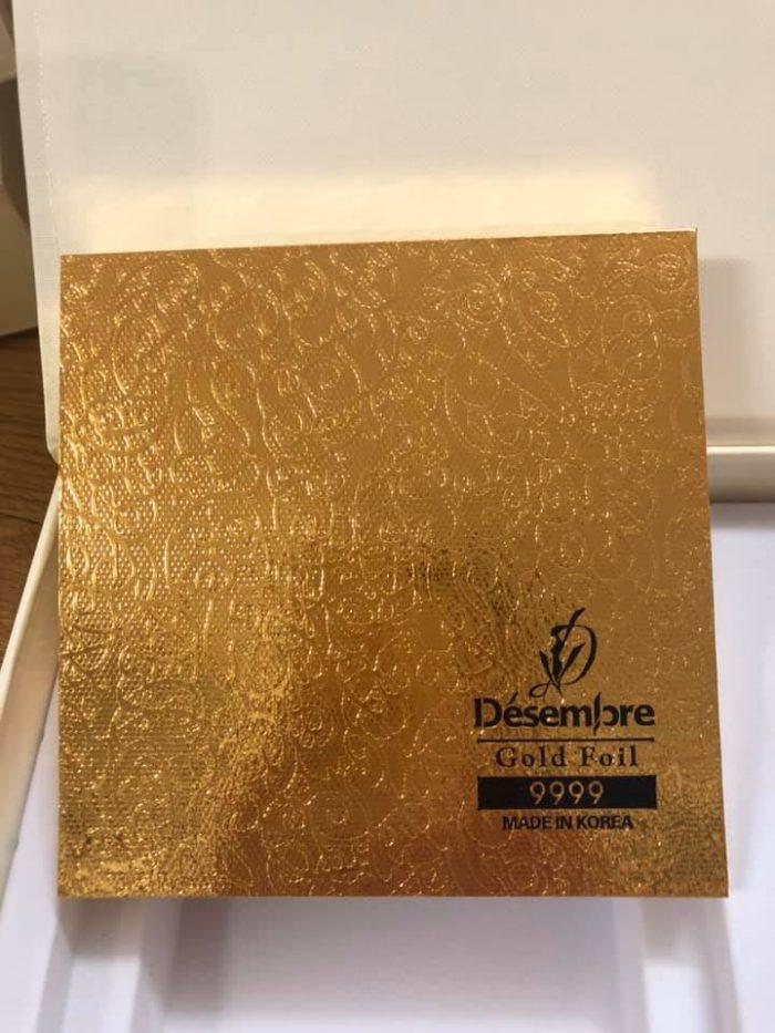 Mặt Nạ Vàng Lá Nguyên Chất 24K Desembre 24K Gold Foil