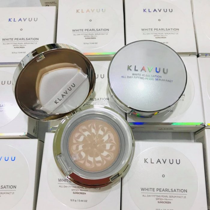 Phấn tươi Klavuu White Pearlsation all day fitting pearl serum pact spf50+ pa+++