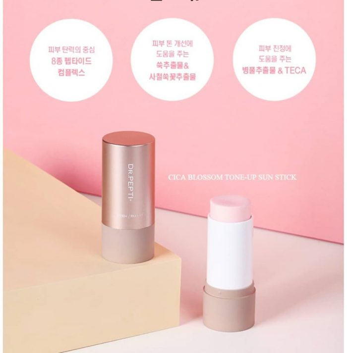 Kem chống nắng Dr.Pepti Cica Blossom Tone Up Sun Stick spf 50+pa++++
