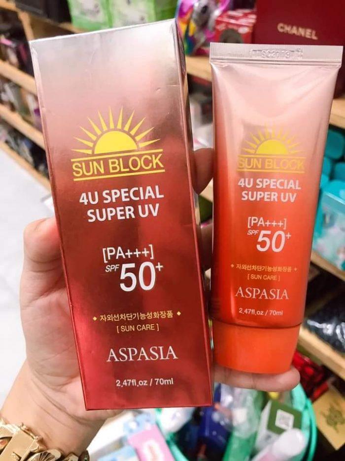 Kem Chống Nắng Aspasia Sunblock 4U Special Super UV SPF 50+ PA+++