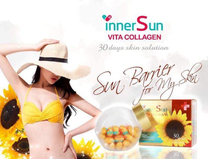 Viên uống chống nắng Inner Sun Vita Collagen Daycell bio
