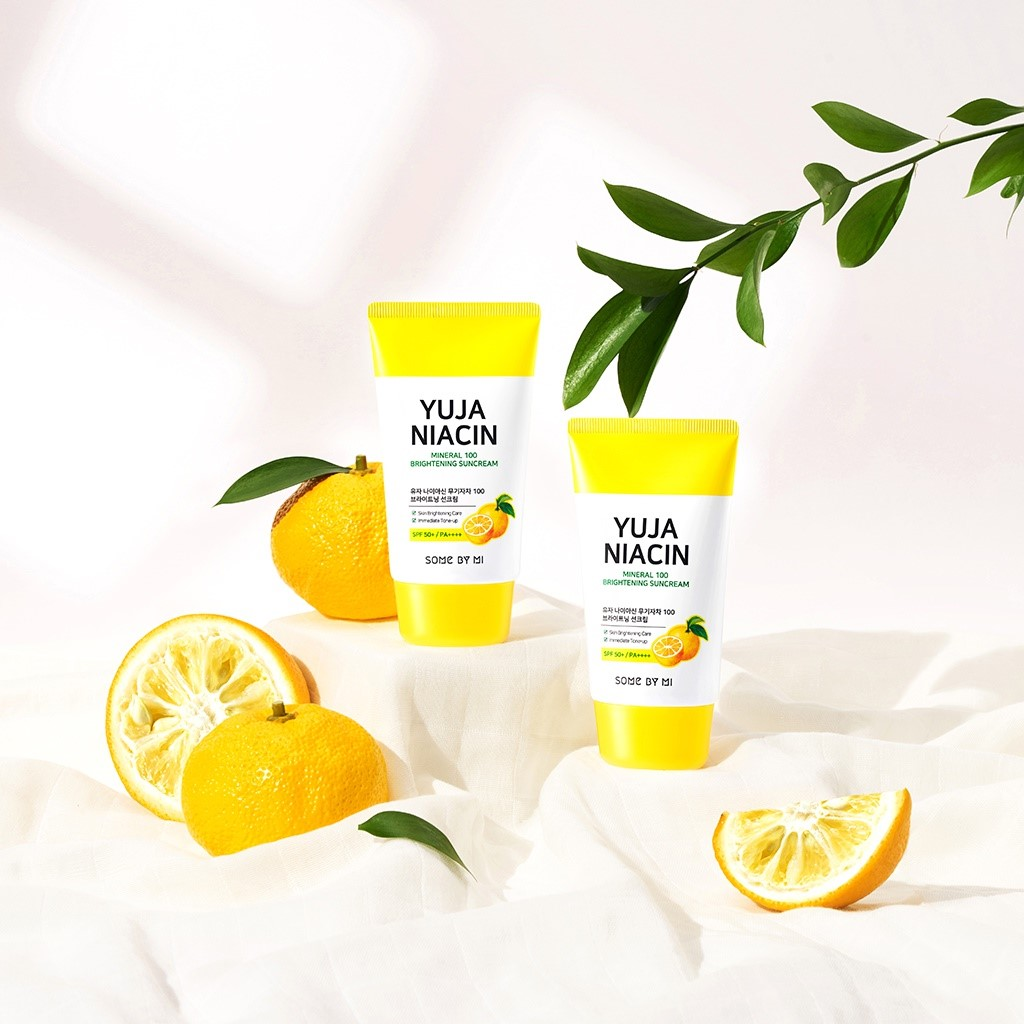 Review Kem chống nắng Some By Mi Yuja Niacin Mineral 100 Brightening Suncream】