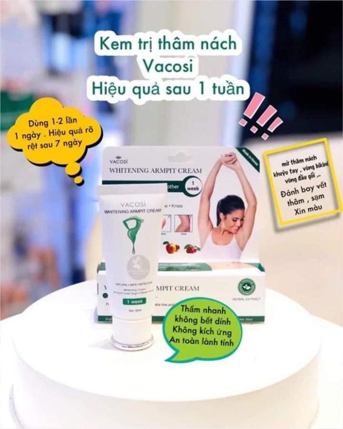 Kem trị thâm nách Vacosi Whitening Armpit Cream