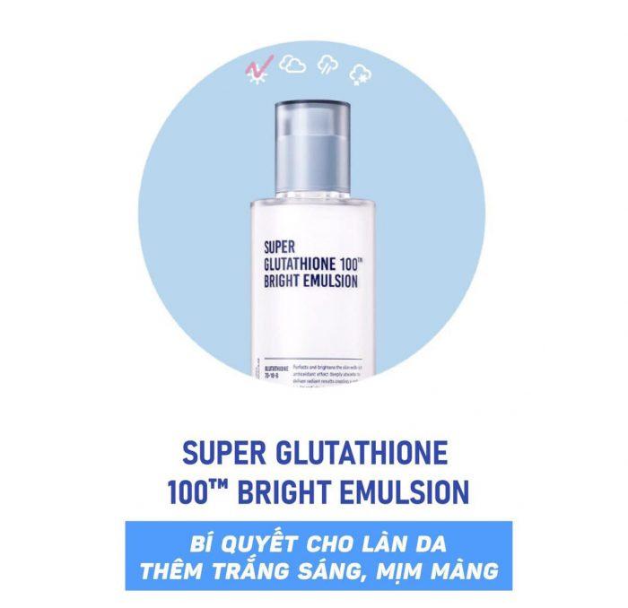 nước hoa hồng Sur.Medic Super Glutathione 100 Bright Emulsion