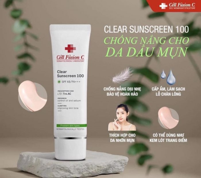 Kem chống nắng Cell Fusion C Clear Sunscreen 100 SPF 48/PA+++