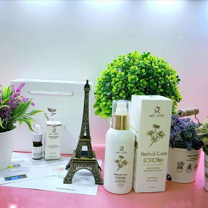 Kem trắng da Mộc Tuyết herbal care lotion